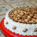 Torta Twix al caramello e nutella