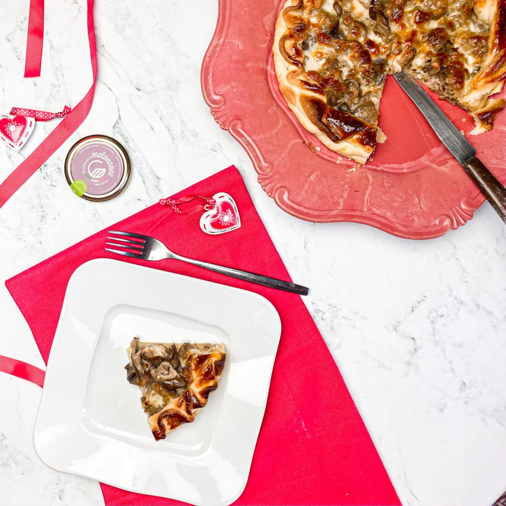 Pizza rustica con melanzane e mozzarella per S.Valentino