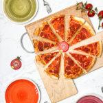 La pizza marinara da condividere